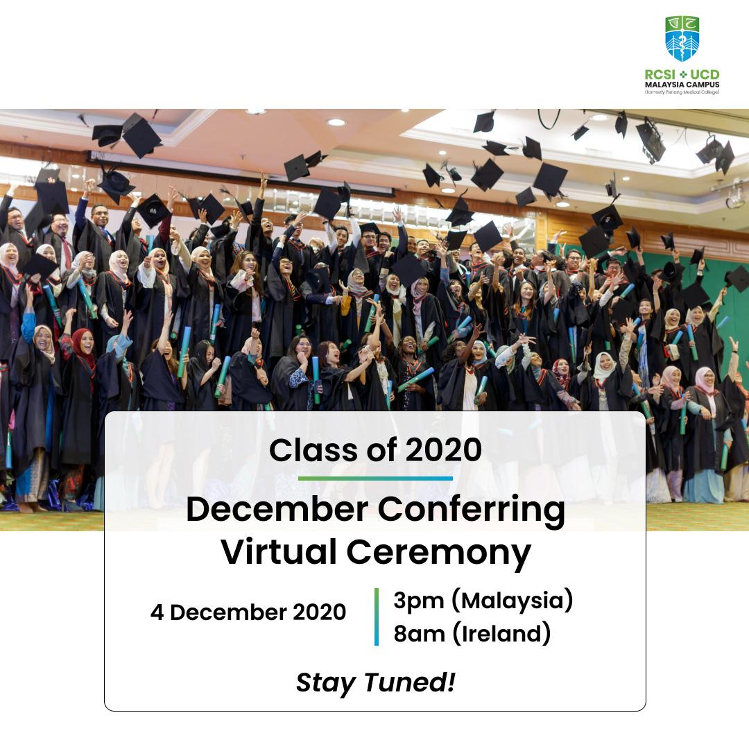 December 2020 Conferring Ceremony Event Photo