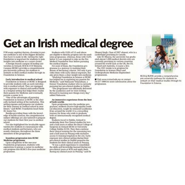 Get an Irish medical degree blog image